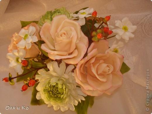 Представляю на Ваш суд свой новый букет из роз и хризантем. фото 5