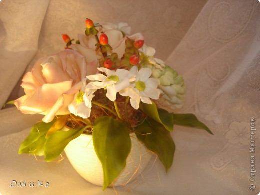 Представляю на Ваш суд свой новый букет из роз и хризантем. фото 6