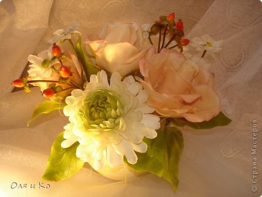 Представляю на Ваш суд свой новый букет из роз и хризантем. фото 3