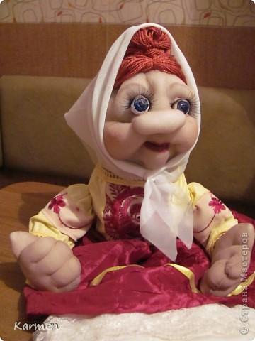 Баба Нюрка пакетница( по мк Ликмы) фото 3