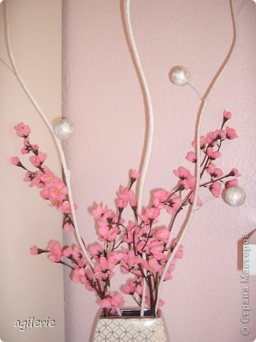 Вот такие веточки, у меня получились, для декора  с веткой сакуры в дочину спальню. фото 9