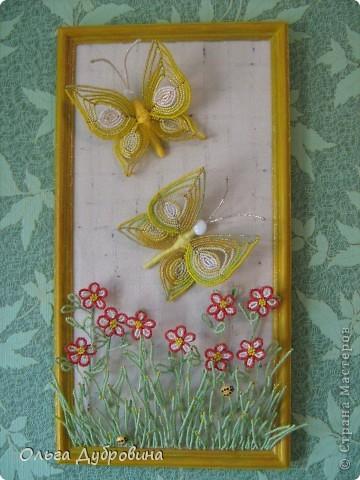 """Очень люблю делать бабочек. Бабочки и цветы - это очень близко. В результате появилась такая композиция. Я бы назвала её """"Летний луг"""". фото 1"""