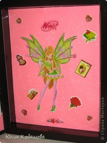 У нашей Дашеньки День рождения, сделала для нее такую открытку из коробки от конфет. фото 6