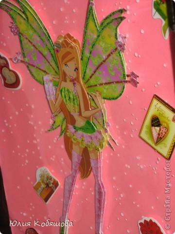 У нашей Дашеньки День рождения, сделала для нее такую открытку из коробки от конфет. фото 7