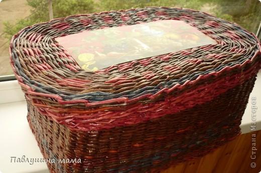 Вторая моя плетенка.. Хотелось бы конечно плетение поаккуратней, но.. еще учиться и учиться. Зато радости моей не было предела, когда я ее закончила плести. Поскольку создана она была специально для своих материалов, чтобы наконец все упорядочить.  фото 4