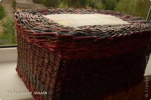 Вторая моя плетенка.. Хотелось бы конечно плетение поаккуратней, но.. еще учиться и учиться. Зато радости моей не было предела, когда я ее закончила плести. Поскольку создана она была специально для своих материалов, чтобы наконец все упорядочить.  фото 3