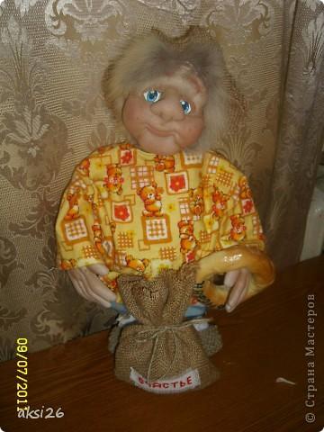Представляю своего нового домового с именем Нафаня. Очень люблю шить именно домовых, а этот еще и шился в подарок прекрасному человеку.  фото 2
