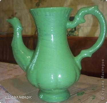 Нашла давно заброшенный чайничик от старого сервиза пошаманила над ним и вот результат. фото 3