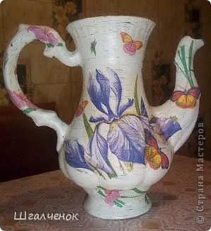 Нашла давно заброшенный чайничик от старого сервиза пошаманила над ним и вот результат. фото 11