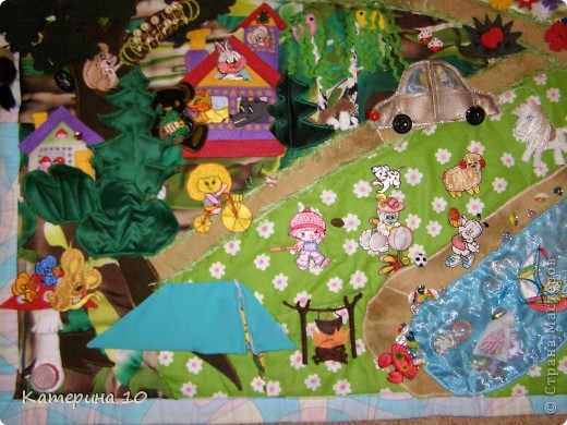 Развивающий коврик в гостях у бабушки