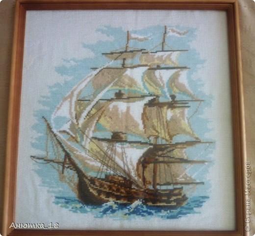 Говорят, что изображение корабля, плывущего вперёд, приносит удачу. Так хочется в это верить! фото 1