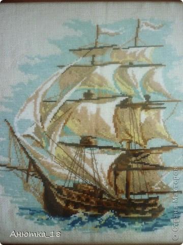 Говорят, что изображение корабля, плывущего вперёд, приносит удачу. Так хочется в это верить! фото 2