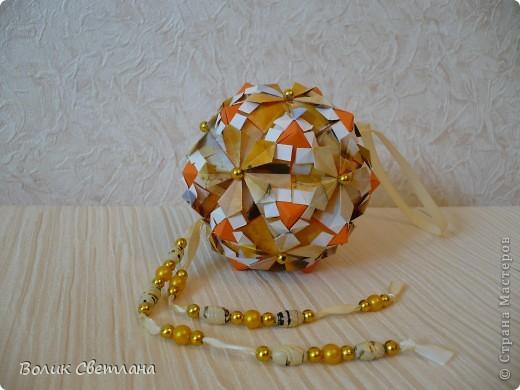 Здравствуйте мои дорогие Мастерицы и Мастера!!! Еще один глоб собрался у меня. Из книги Tomoko Fuse - Floral Globe Origami стр. 42-43.  фото 2