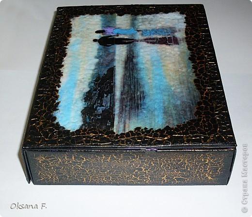 Вот такая шкатулка получилась из обычной картонной коробочки... фото 4