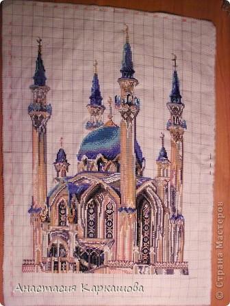 вышивкa крестиком мечеть