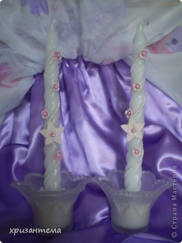 Свадебные свечи. фото 3