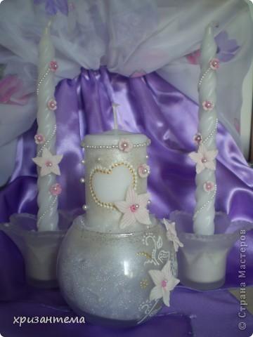 Свадебные свечи. фото 1