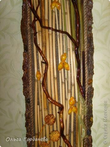 Рамка- кора,Ромашки из кожи крашенные и лаченые.Веточки любимой ветвистой ивы,которую мне повезло заготовить. фото 3