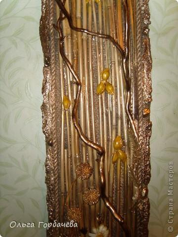 Рамка- кора,Ромашки из кожи крашенные и лаченые.Веточки любимой ветвистой ивы,которую мне повезло заготовить. фото 5