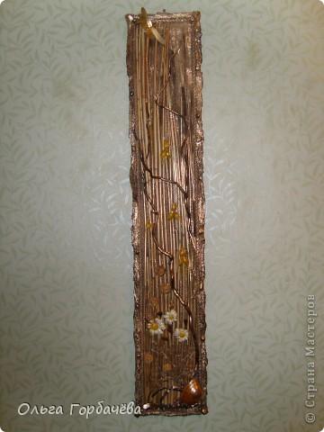 Рамка- кора,Ромашки из кожи крашенные и лаченые.Веточки любимой ветвистой ивы,которую мне повезло заготовить. фото 6