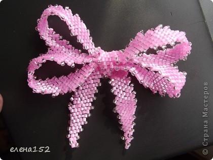 Бантики такие наплела.Спасибо девочкам с сайта http://biser.info за подробные мастер-классы. фото 1