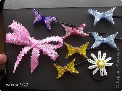 Бантики такие наплела.Спасибо девочкам с сайта http://biser.info за подробные мастер-классы. фото 2