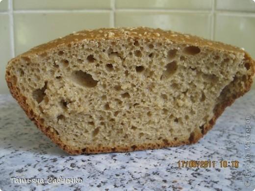 Хлеб на домашней закваске в духовке. фото 2