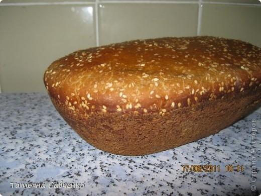Хлеб на домашней закваске в духовке. фото 1