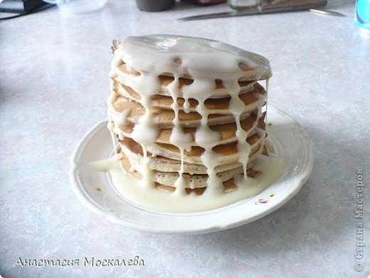 """""""Панкейки"""" - американские блинчики. тесто: 3 яйца 0,5 л. молока или сливок 2,5 ст. муки (просеянной) 6 ст. л. сахара 0,5 ч. л. соды 1 ч. л. корицы щепотка соли щепотка ванилина сливочное масло д/ жарки фото 1"""