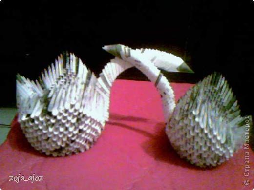Мои радужные лебеди.Изготовлены в ноябре 2011 года фото 4