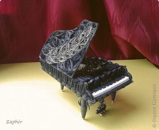 Недолго думая, решила сделать второй рояль, так сказать, по горячим следам. Но дался он мне гораздо труднее, чем первый.  фото 5