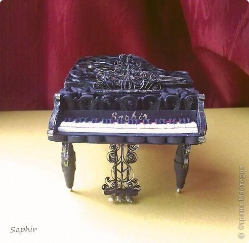 Недолго думая, решила сделать второй рояль, так сказать, по горячим следам. Но дался он мне гораздо труднее, чем первый.  фото 4