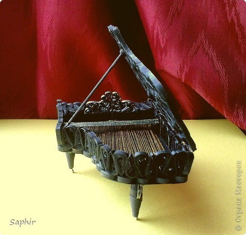 Недолго думая, решила сделать второй рояль, так сказать, по горячим следам. Но дался он мне гораздо труднее, чем первый.  фото 7