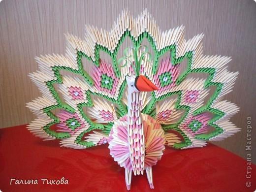 Немного фантазии и получился вот такой павлин с ажурным хвостом. Мастер-класс: http://masterica.maxiwebsite.ru/archives/5652#more-5652 фото 56