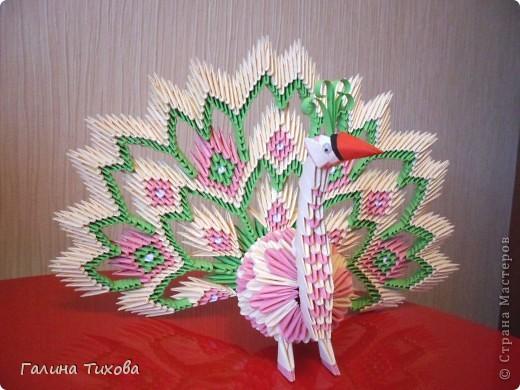 Немного фантазии и получился вот такой павлин с ажурным хвостом. Мастер-класс: http://masterica.maxiwebsite.ru/archives/5652#more-5652 фото 1