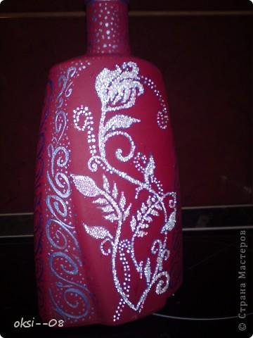 первый опыт росписи бутылки фото 6