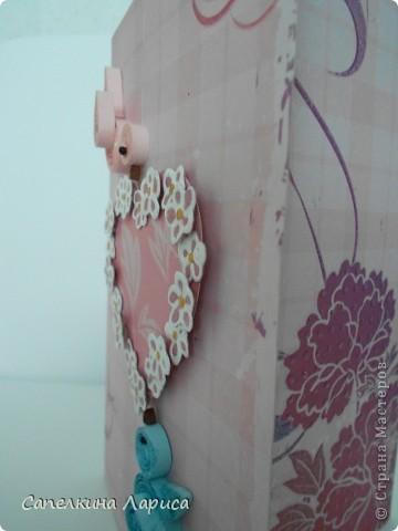 В основе дизайнерская бумага для скрапбукинга. С лицевой и внутренней стороны. фото 3