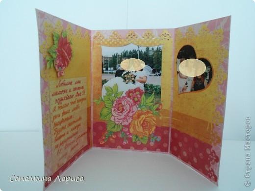 В основе дизайнерская бумага для скрапбукинга. С лицевой и внутренней стороны. фото 4