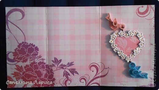 В основе дизайнерская бумага для скрапбукинга. С лицевой и внутренней стороны. фото 5