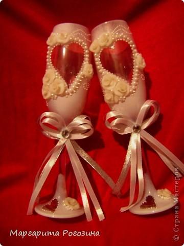 Свадебные бокалы и свечи фото 4