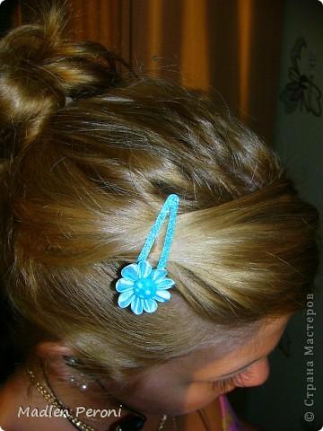 Голубая заколочка для себя любимой фото 1