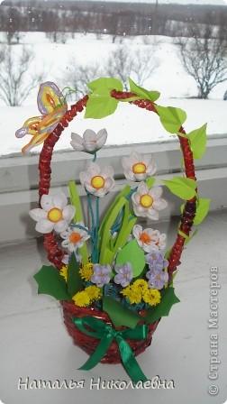 Гибискус - мой самый любимый комнатный цветок, вот он в квиллинге фото 4