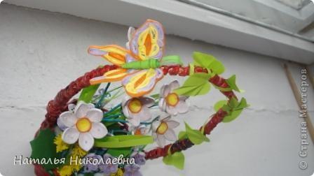 Гибискус - мой самый любимый комнатный цветок, вот он в квиллинге фото 5