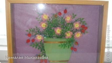 Гибискус - мой самый любимый комнатный цветок, вот он в квиллинге фото 6