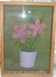 Гибискус - мой самый любимый комнатный цветок, вот он в квиллинге фото 1