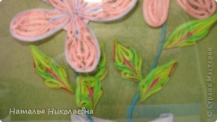 Гибискус - мой самый любимый комнатный цветок, вот он в квиллинге фото 3