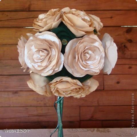 """Топиарий """"Чайные розы"""" - подарок для любимой свекрови фото 7"""
