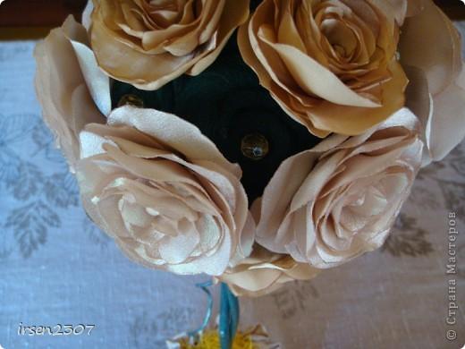 """Топиарий """"Чайные розы"""" - подарок для любимой свекрови фото 3"""