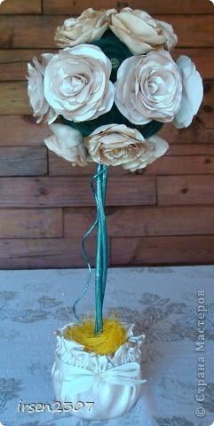 """Топиарий """"Чайные розы"""" - подарок для любимой свекрови фото 1"""