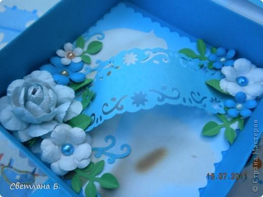 Всем привет! Вот, наконец, и я решилась сделать коробочку. Сделала по этому МК-  http://altered-art.blogspot.com/2011/07/6-express-challenge-6-origami-box.html . В Стране Мастеров есть несколько МК коробочек-оригами: http://stranamasterov.ru/node/151768  ; http://stranamasterov.ru/node/134778     .  На создание моей коробочки меня вдохновили девушки: Konfeta http://stranamasterov.ru/node/214589?c=favusers  и YuliaM  http://stranamasterov.ru/node/214143?c=favusers . Раньше я опасалась делать что-то в технике оригами, но напрасно, оказалось это совсем не сложно.  фото 7